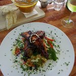 Pork belly with asian salad
