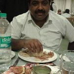 Happy tasty dinner at athithi dinner hall of Pooram international...