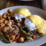 Crab cake Benedict w/ home fries