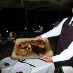 Succulent Bistecca Fiorentina in the casual restaurant
