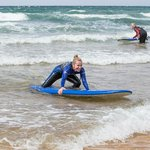 Surfing (attempting!) at Fanore Beach