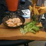 Prawns from pub on the grounds