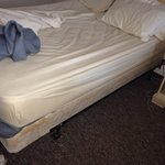Most uncomfortable bed ever- circa 1981 poking springs and all!!!