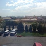 View of the airport from the room