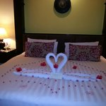 Decorated Room - Lovely Surprise by Taj on our Honemoon Trip