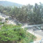road view from hotel balcony