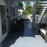 semi-private balcony/porch area, cute for reading, sunbathing or having a drink
