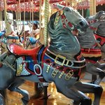Beautifully maintained carousel animals