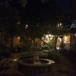 Cozy courtyard with fountain