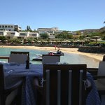 restaurant down by the private beach