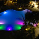 Pool by the Sea Tower at night