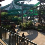 One of the water parks from a second floor room