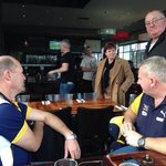 the boys before the game enjoying a drink at James Squires.