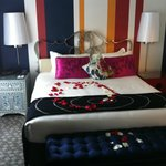 King Suite with rose petals