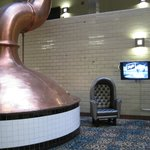 Brewing vats in atrium
