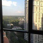Room on 19th floor overlooking Piedmont Park