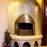Fireplace in Berber style room