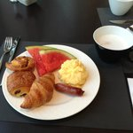 The Novotel provided a great breakfast buffet every morning.  Paux aux Rasins were the best.