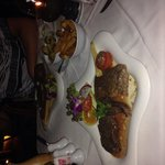 T-bone steak and my mixed grill