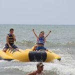 Banana Boat ride right in front of hotel beach