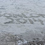 leaving our name on beach