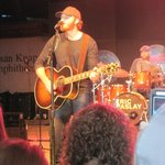 Eric Pasley in concert at the Iowa State Fair - Aug., 2014