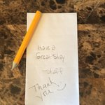 They even have hand written notes telling me to have a great stay. Such hospitality!