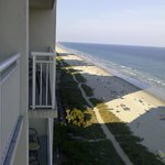 Looking off the balcony onto Myrtle Beach