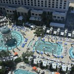 Top view of the pools from the room