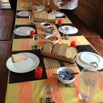 B'fast table