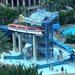 Monorail Pool Slides from room.