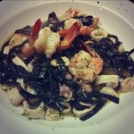 Squid ink fettuccine special