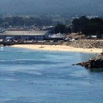 the view of a Monterey Bay beach visible from the hotel