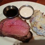 Prime rib was melt-in-your-mouth good