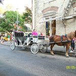 Carriage taxi's are abundant in the area