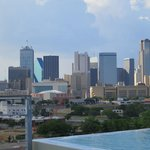 Dallas skyline from the NYLO rooftop