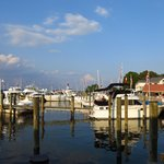 Harbor view from our outdoor table at Town Dock