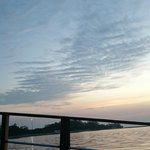 MUAR sunset view from the boat