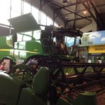 A HUGE combine. Fun to sit inside.