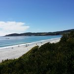 The beautiful view of Carmel Beach