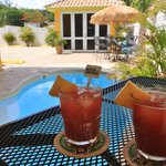 Relax at Pool with Sangria Tertelin