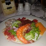 Giant shrimp and serrano ham at PortoFino salad bar