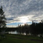 Chena River View from our patio 9:30 p.m July 2014