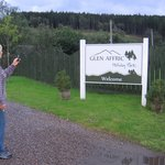 My mum in Glen Affric Holiday Park