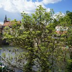 view of Neckar river from room
