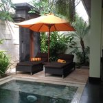 Plunge pool area in villa