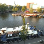 Canal view from room, hotel Eden, Amsterdam