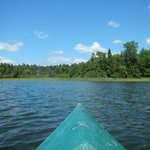 Kayaking on Two Inlets lake