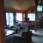 View of TV / lounge room inside main lodge