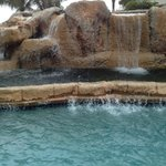 Cascading rock waterfalls in many pools!